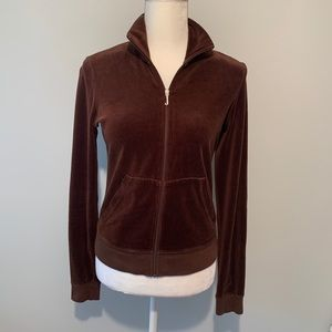 Juicy Couture Brown Valour Sweat Jacket